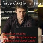 Keep Nathan Fillion on TV!